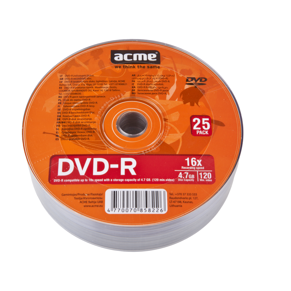 ACME DVD-R 4.7 GB, 120 min