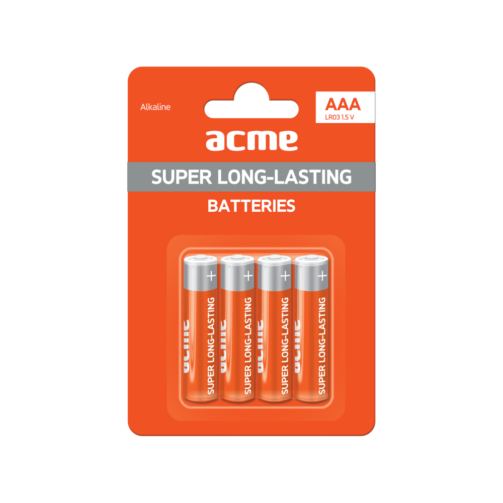ACME Alkaline Batteries AAA/4pcs