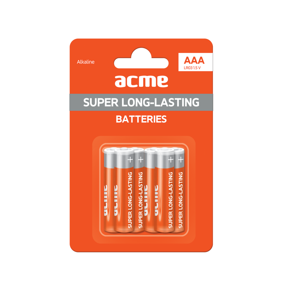 ACME Alkaline Batteries AAA/6pcs